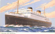 shp011383 - White Star Line Cunard Ship Post Card, Old Vintage Antique Postcard