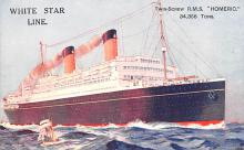shp011389 - White Star Line Cunard Ship Post Card, Old Vintage Antique Postcard
