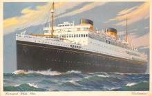shp011393 - White Star Line Cunard Ship Post Card, Old Vintage Antique Postcard
