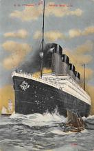 shpp002001 - White Star Line Ship Postcard Old Vintage Steamer Antique Post Card