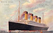 shpp002003 - White Star Line Ship Postcard Old Vintage Steamer Antique Post Card