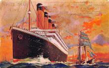 shpp002009 - White Star Line Ship Postcard Old Vintage Steamer Antique Post Card