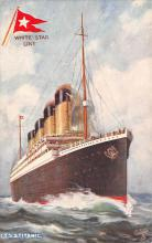 shpp002013 - White Star Line Ship Postcard Old Vintage Steamer Antique Post Card