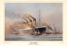 shpp002069 - White Star Line Ship Postcard Old Vintage Steamer Antique Post Card