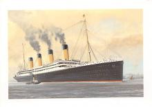 shpp002077 - White Star Line Ship Postcard Old Vintage Steamer Antique Post Card
