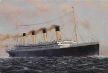 shpp002085 - White Star Line Ship Postcard Old Vintage Steamer Antique Post Card