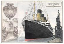 shpp002107 - White Star Line Ship Postcard Old Vintage Steamer Antique Post Card