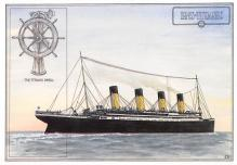 shpp002111 - White Star Line Ship Postcard Old Vintage Steamer Antique Post Card