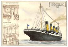 shpp002113 - White Star Line Ship Postcard Old Vintage Steamer Antique Post Card