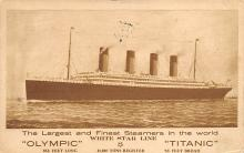shpp002129 - White Star Line Ship Postcard Old Vintage Steamer Antique Post Card