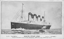 shpp003001 - White Star Line Ship Postcard Old Vintage Steamer Antique Post Card