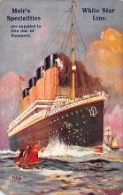shpp003005 - White Star Line Ship Postcard Old Vintage Steamer Antique Post Card
