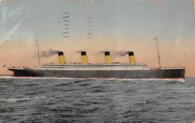 shpp003007 - White Star Line Ship Postcard Old Vintage Steamer Antique Post Card