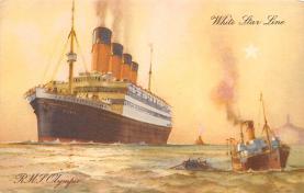 shpp003013 - White Star Line Ship Postcard Old Vintage Steamer Antique Post Card