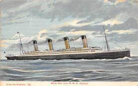 shpp003015 - White Star Line Ship Postcard Old Vintage Steamer Antique Post Card