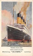 shpp003025 - White Star Line Ship Postcard Old Vintage Steamer Antique Post Card