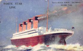 shpp003027 - White Star Line Ship Postcard Old Vintage Steamer Antique Post Card
