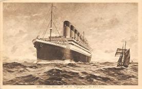 shpp003031 - White Star Line Ship Postcard Old Vintage Steamer Antique Post Card