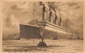 shpp003033 - White Star Line Ship Postcard Old Vintage Steamer Antique Post Card