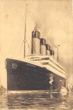 shpp003035 - White Star Line Ship Postcard Old Vintage Steamer Antique Post Card