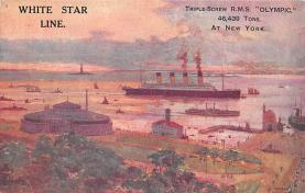 shpp003037 - White Star Line Ship Postcard Old Vintage Steamer Antique Post Card
