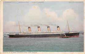 shpp003043 - White Star Line Ship Postcard Old Vintage Steamer Antique Post Card