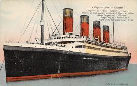 shpp003045 - White Star Line Ship Postcard Old Vintage Steamer Antique Post Card