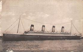 shpp003047 - White Star Line Ship Postcard Old Vintage Steamer Antique Post Card