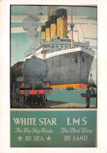 shpp003059 - White Star Line Ship Postcard Old Vintage Steamer Antique Post Card
