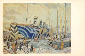 shpp003061 - White Star Line Ship Postcard Old Vintage Steamer Antique Post Card