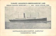 shpp004001 - Cunard Line Ship Postcard Old Vintage Steamer Antique Post Card