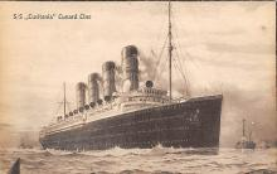 shpp005035 - Cunard Line Ship Postcard Old Vintage Steamer Antique Post Card