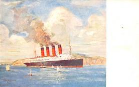 shpp005049 - Cunard Line Ship Postcard Old Vintage Steamer Antique Post Card