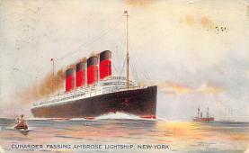 shpp005059 - Cunard Line Ship Postcard Old Vintage Steamer Antique Post Card