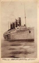 shpp006009 - Cunard Line Ship Postcard Old Vintage Steamer Antique Post Card