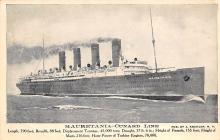 shpp006017 - Cunard Line Ship Postcard Old Vintage Steamer Antique Post Card