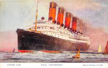 shpp006027 - Cunard Line Ship Postcard Old Vintage Steamer Antique Post Card