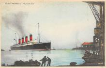 shpp006029 - Cunard Line Ship Postcard Old Vintage Steamer Antique Post Card