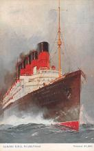 shpp006033 - Cunard Line Ship Postcard Old Vintage Steamer Antique Post Card