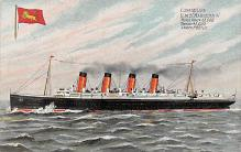 shpp006035 - Cunard Line Ship Postcard Old Vintage Steamer Antique Post Card