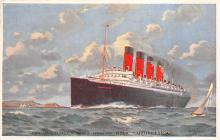 shpp006037 - Cunard Line Ship Postcard Old Vintage Steamer Antique Post Card