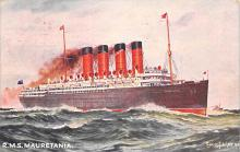shpp006039 - Cunard Line Ship Postcard Old Vintage Steamer Antique Post Card