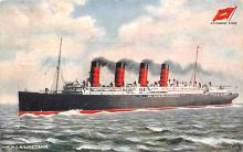 shpp006041 - Cunard Line Ship Postcard Old Vintage Steamer Antique Post Card