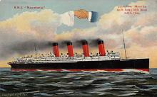 shpp006047 - Cunard Line Ship Postcard Old Vintage Steamer Antique Post Card