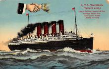 shpp006049 - Cunard Line Ship Postcard Old Vintage Steamer Antique Post Card