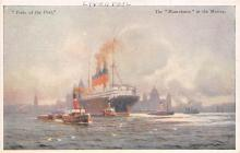 shpp006051 - Cunard Line Ship Postcard Old Vintage Steamer Antique Post Card