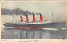 shpp006053 - Cunard Line Ship Postcard Old Vintage Steamer Antique Post Card