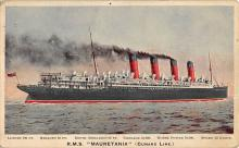 shpp006057 - Cunard Line Ship Postcard Old Vintage Steamer Antique Post Card