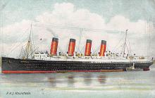 shpp006059 - Cunard Line Ship Postcard Old Vintage Steamer Antique Post Card