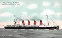 shpp006061 - Cunard Line Ship Postcard Old Vintage Steamer Antique Post Card